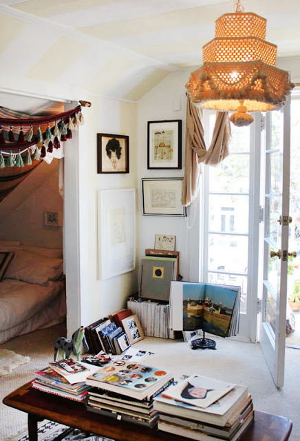 bohemian bedroom treehouse