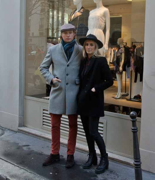 Sophie: Hat: Bolivia/ Shirt:Mango/ Coat: The Kooples/ Trousers: Rare of London/ Shoes: Topshop