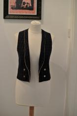 Vintage navy waistcoat