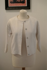 Topshop white cocoon jacket
