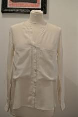 Zara cream silk blouse