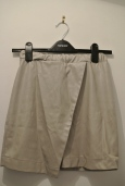 Topshop grey leather skirt